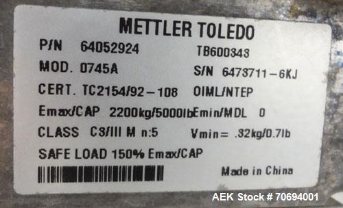 """Used- IEDCO Bulk Bag Discharge Station, Model 10286-BBU-5101, 304 Stainless Steel. (1) Top frame section approximate 63"""" lon..."""