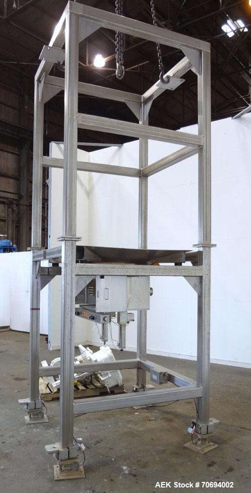 """Used- IEDCO Bulk Bag Discharge Station, Model 10286-BBU-5101, 304 Stainless Steel. (1) Top frame section approximately 63"""" l..."""
