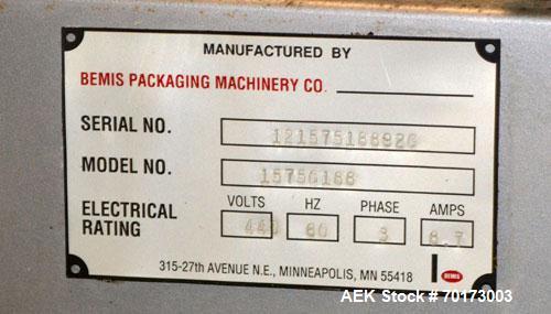 Used- Bemis Packaging Machinery Model 1575G188