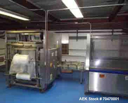 Used-OK International SL220 Bag In Box Line capable of speeds up to 18 cases per minute.Line consists of an OK International...