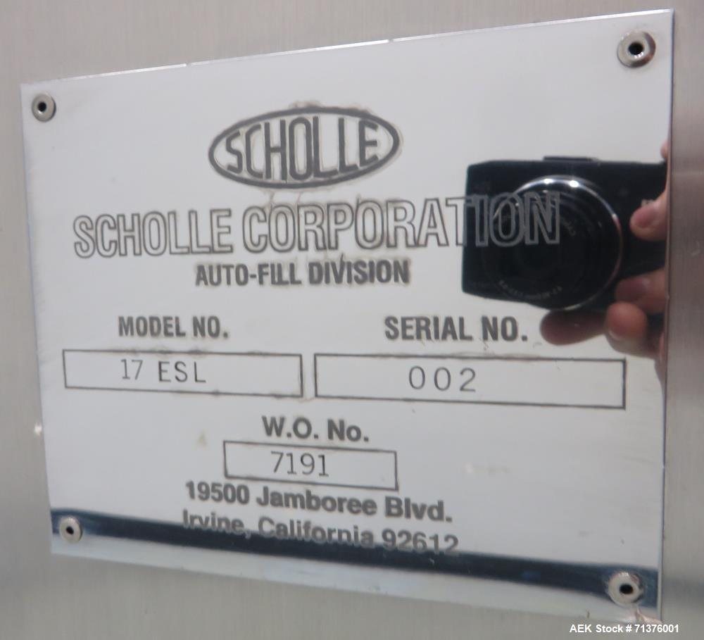 Used- Scholle Corporation Double-Headed Semi-Automatic Aseptic Bag Filler