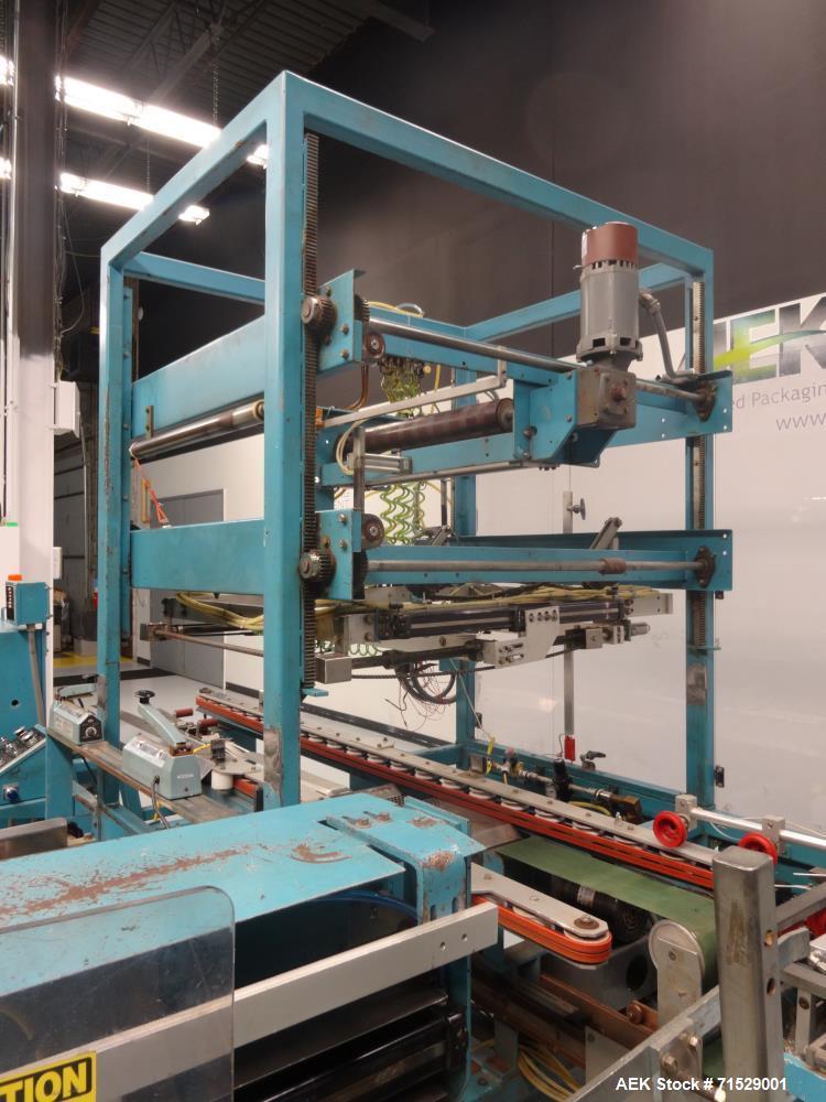 Used- K&R Equipment Model PBI-AT 32 Case Erector And Poly Bag Inserter