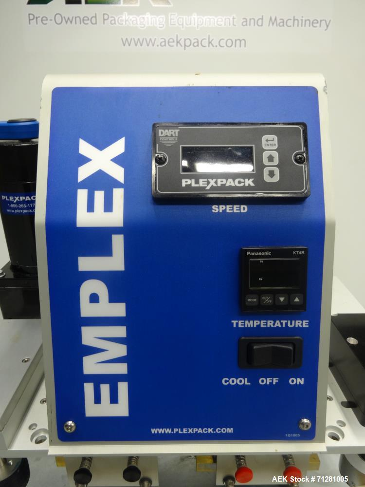 Used- Emplex (Plexpack Corp) Model MPS6140-M Table Top Band Sealer.