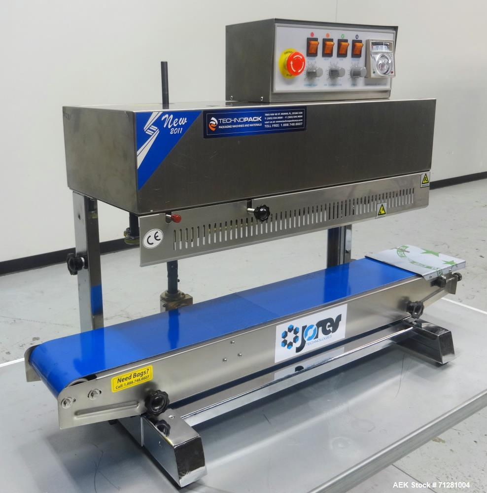 Used- Jores Technologies Model CBS-910CI Continuous Band Sealer