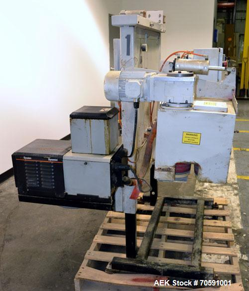 Used- Carbon Steel Fischbein DRC-300 Double Roll Closer, Hot Melt Type Bag Seale