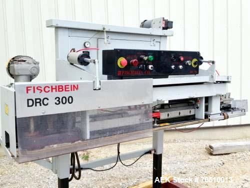 Used- Fischbein DRC 300 Bag Sealer. Folds, trims and applies a hot melt glue to the bag. Good for 2 lb. to 25 lb. bags.