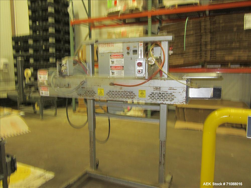 Used-Fischbein Model PBC 5600  Hot Air Pinch Bottom Bag Sealer fo rbags with pre-applied glue. Capble of speeds up to 85 fee...