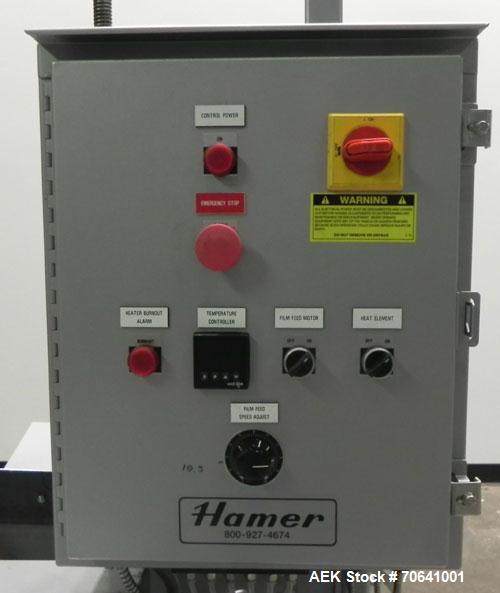 Unused- Hamer Model 500 HS Hot Air Bag/Pillow Sealer. The model 500 HS is designed for sealing pillow style or bottom gusset...