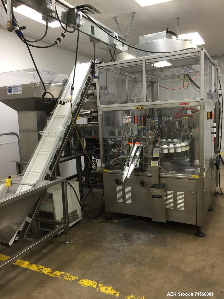 Used- Autobag HS-100 Excel Vibratory Bowl Feeder and Bag Packager/Sealer