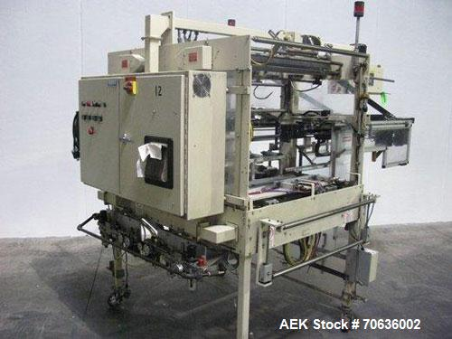 "Used-Rennco Dual 501-36 Vertical L-Bar Sealer. 36"" Horizontal and 8"" vertical seal bars, dual sided machine (left and right)..."