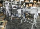 Used-Rennco Dual 501 Vertical L-Bar Sealer with model CCL (cup counter loader). Horizontal seal approximately 36