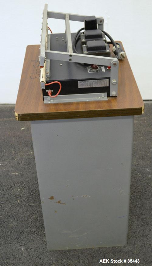 "Used- Vertrod Thermal Horizontal Impulse Heat Sealing Machine, Model 20A/CAB. Approximate 21"" long x 1/2"" wide seal area.Man..."