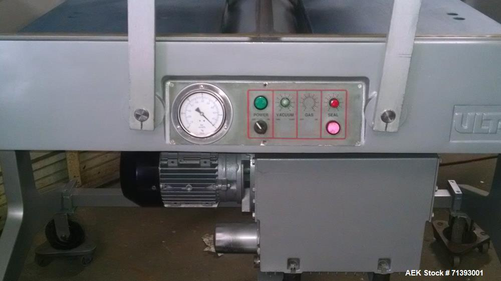 "Used- Ultravac 2000 Vacuum Packaging Machine. 27"" seal bars, 32"" inbetween seal bars, 8"" chambers depth. 7.5 hp, 180 rotary ..."