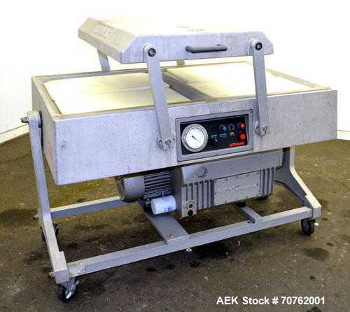 """Used- Koch Packaging Model Ultravac 2100-A Double Chamber Vacuum Packaging Machine. Up to 15,000 4"""" x 6"""" packages per eight ..."""