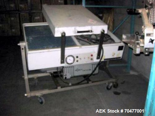 Used- Multivac Dual Chamber Vacuum Packaging Machine, Model AG800. Packaging speed 2 to 3 cycles per minute. MAP Modified at...