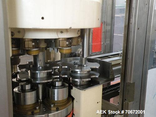 Used-Sarcmi 202 Can Filler.  Maximum capacity 12,000 cans/hour for 11 fl oz (033 cl).  (20) Valves.  (1) Comaco-Manzini can ...