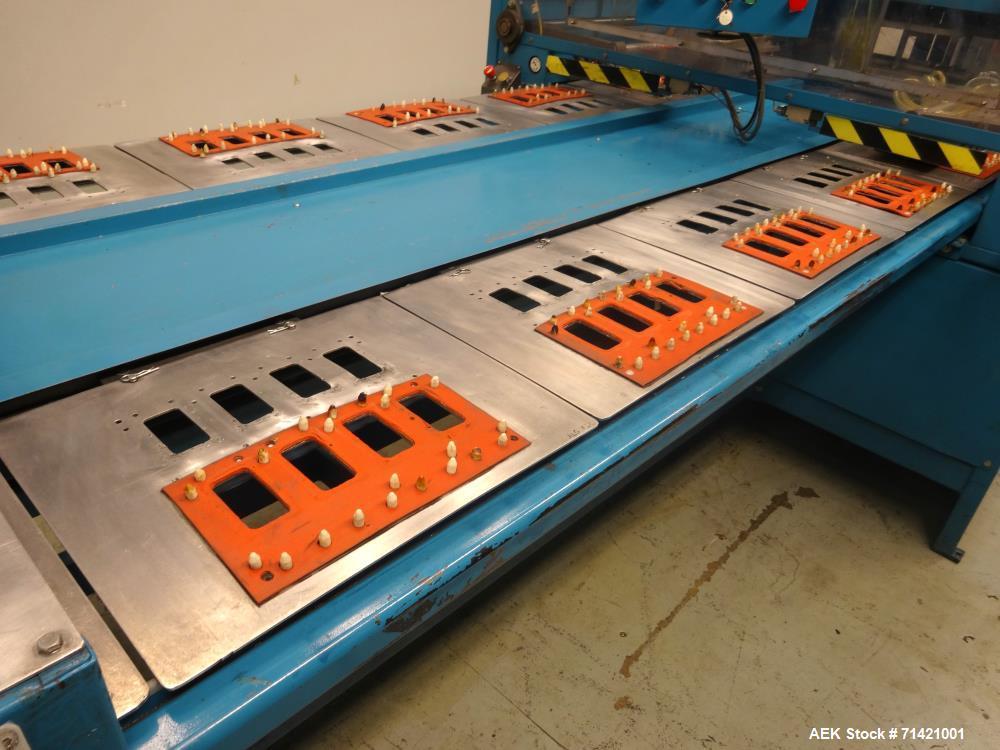 Used- Algus Model 16S-1216 3EE Carousel Blister Sealer