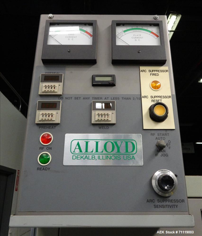 Used- Alloyd Model 20SRF1218 Carousel RF 15KW  Blister Sealer