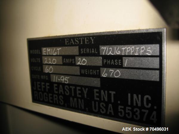 Used- Eastey Hot Knife Sealer, Model EM16T, serial# 71216TPPIPS.