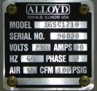 Used- Alloyd Model 16SC1216 Blister Sealer. Capable of speeds from 6 to 20 cycles per minute. Has 16 stations with 12