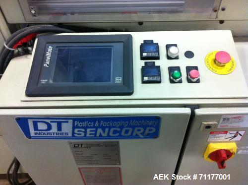 Used-Cerapak HP-15H/C Blister Sealer.  Has 4 feeders, blister in tray, plastic top, Geneva gearbox for indexing, stop and st...