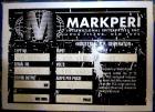 Used- Markperi Model MP10 DS RF Welder/Rotary Blister Sealer