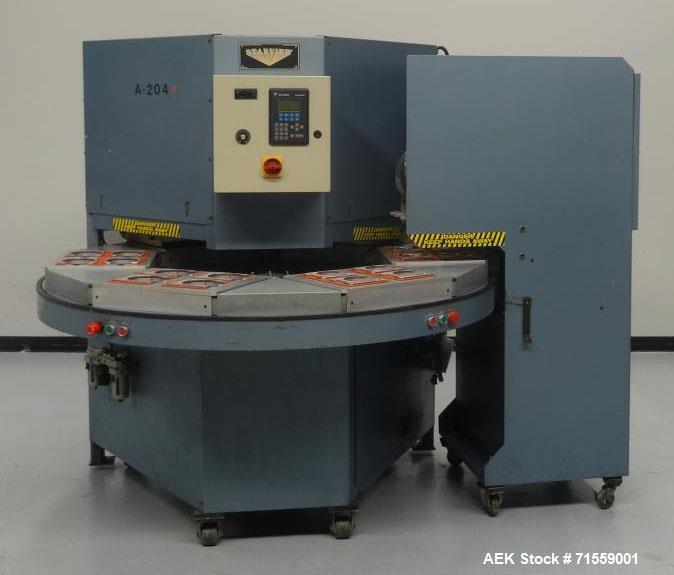 Used- Starview Model PHS6-1418 Semi-Automatic Rotary Blister Sealer