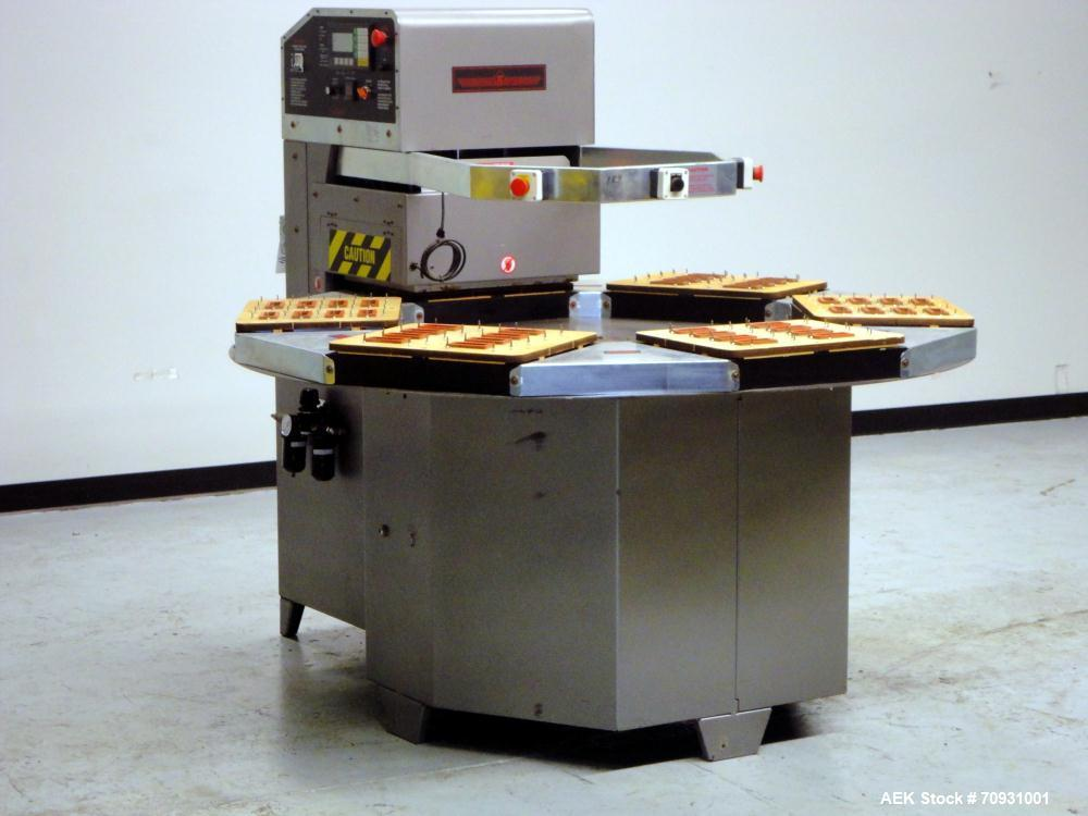 """Used- Visual Packaging System Model SDS6C (6) Station Semi-Automatic Rotary Blister Sealer. Has 14"""" x 18"""" Seal Area, 3-1/4"""" ..."""
