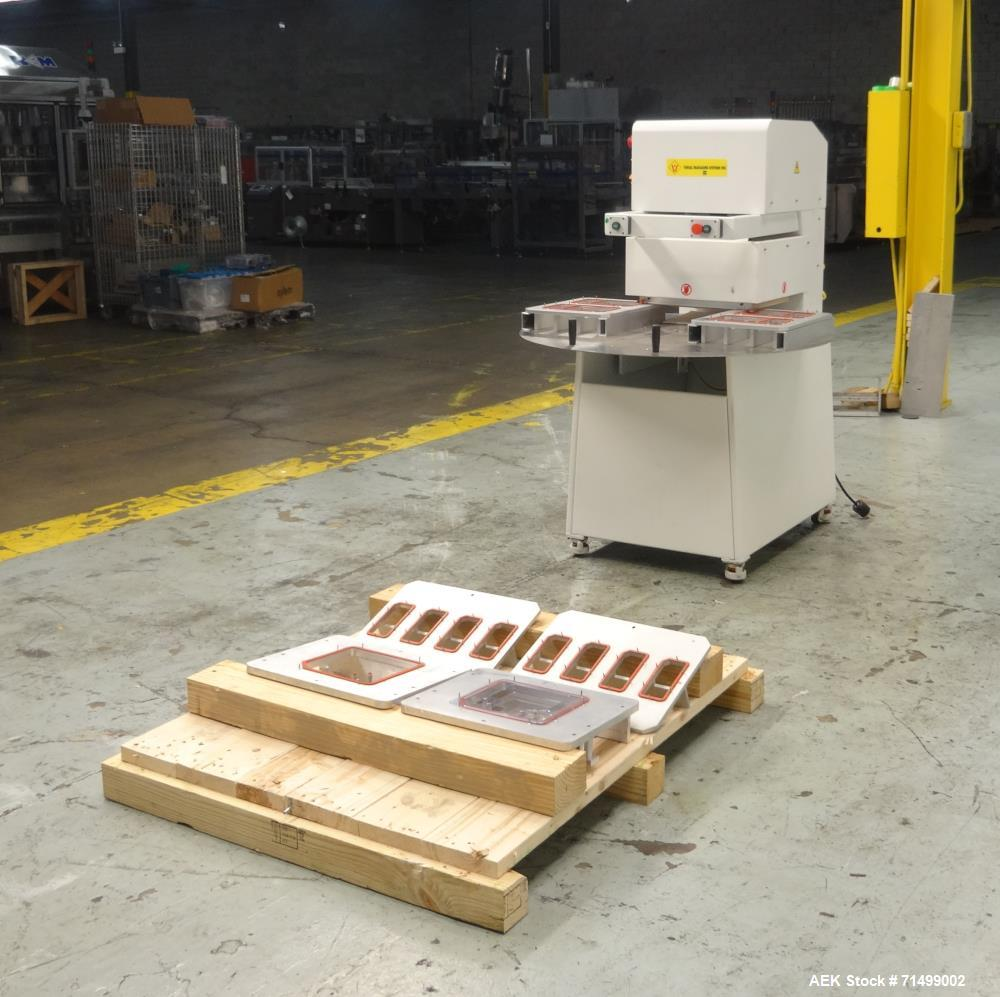 Used- Visual Packaging System Pharmaceutical Semi-Auto Rotary Blister Sealer