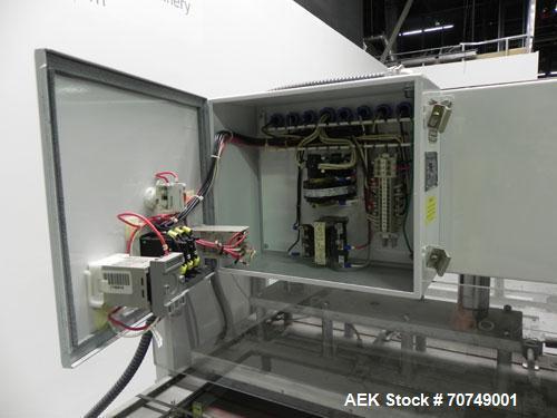 """Used- Alloyd Model 2SM1428 Shuttle Type Blister Sealer. Seal area 14"""" (wide) x 18"""" (long). Temperature range 0 - 800 deg Far..."""