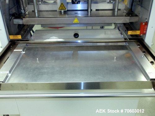 Used- Alloyd Shuttle Blister Sealer, Model AERGO2 PLUS. Semi automatic design, 208-230 volt, serial# M2006-046, new 2006.