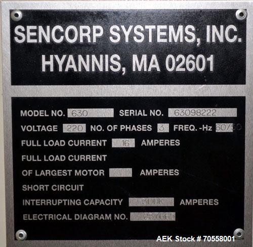 """Used- Sencorp 630 Blister Sealer.  Two station shuttle blister sealer has a 13"""" x 21"""" seal area.  Maximum blister depth: 4.5..."""