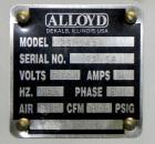 Used- Alloyd Model 2SM1428 Shuttle Type Blister Sealer. Seal area 14