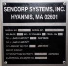Used- Sencorp 630 Blister Sealer.  Two station shuttle blister sealer has a 13