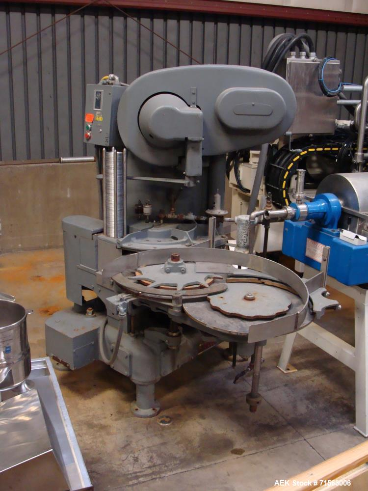 Used-Angelus Can Seamer, Model 40S, S/N 012061690, Set-Up to Run 307 Style Cans, with Allen Bradley Controls