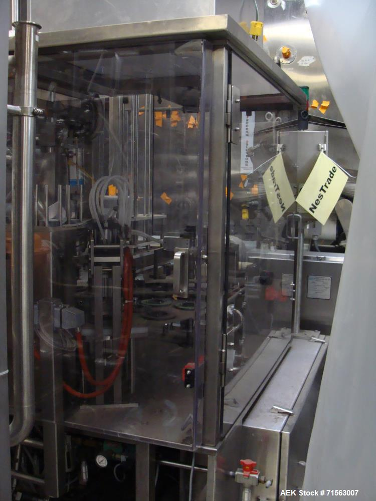 Used-Auto Prod Two-Head Rotary S/S Dairy Filler, Model R0A7, S/N 1771, Containers from 125 cc to 2,400 cc at a Rate of up to...