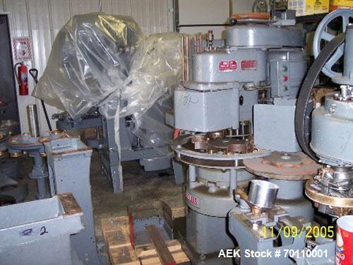 Used-Angelus Sanitary Can Model 10P Closing Machine/Seamer. Reported completely reconditioned. New bearings, bushings and se...