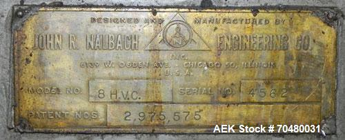 Used- Nalbach Model 8 H.V.C. 8-Head Rotary Cap Crimper.