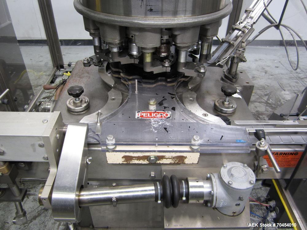 Used- Consolidated High Speed Rotary Chuck Capper, Model TG-12-15