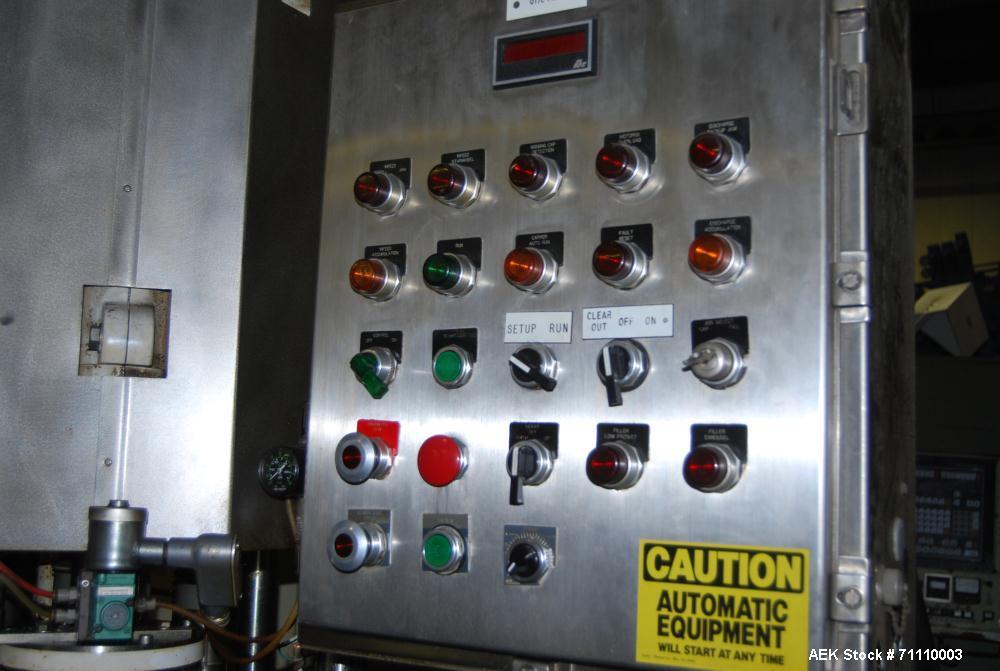 Used- Fowler Zalkin Auto Capping Machine, Model CA6 320 GR.