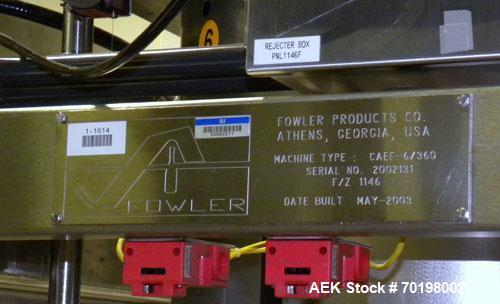 Used- Fowler Zalkin Automatic Rotary Chuck Capper, Model CAE-F-6/360
