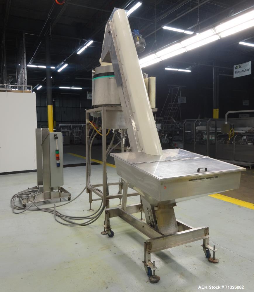 Used- Hoppmann Model FT301RLDSA Centrifugal Cap Feeding and Sorting System