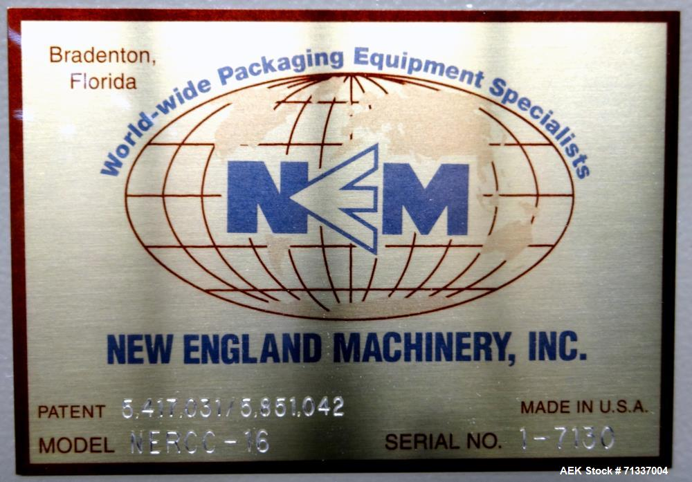 Used- New England Machinery Model NERSC-16, 16 Head Rotary Chuck Capper
