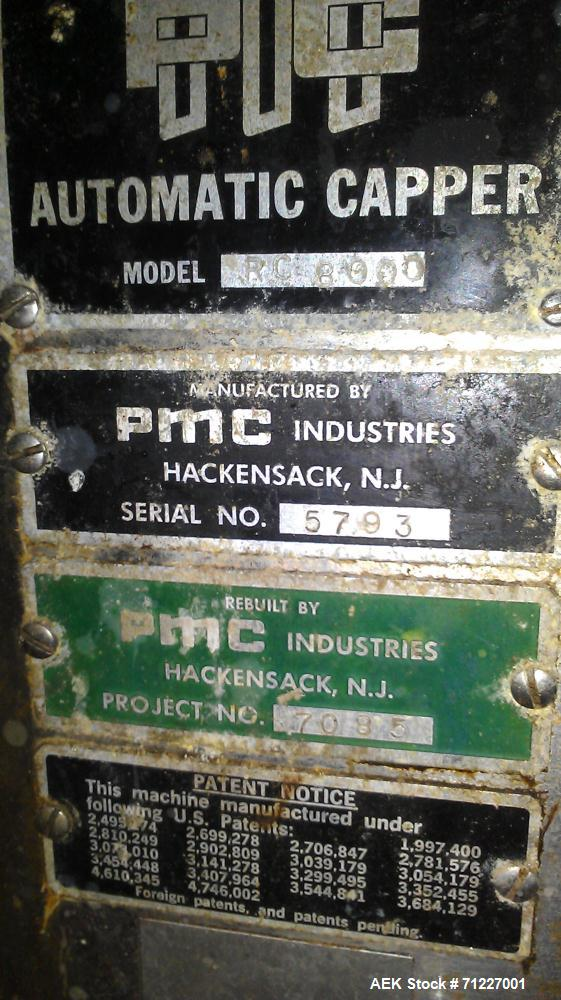 Used- PMC Industries RC Rotary Chuck Capper