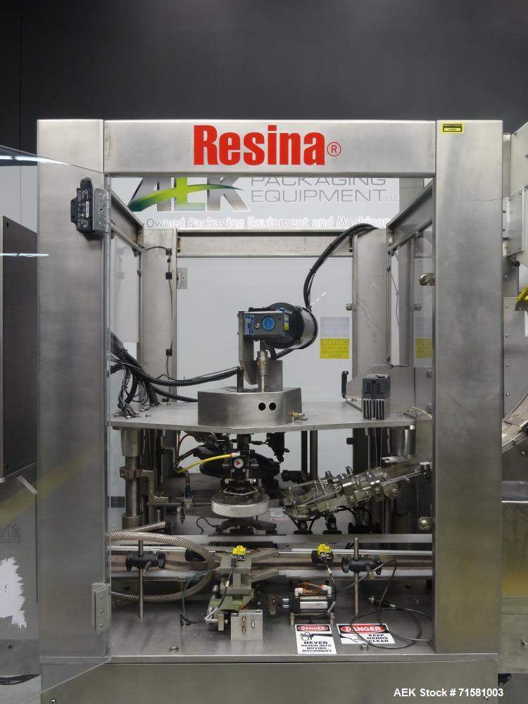 Used- Resina Model NRS-51-HES-12 Single Chuck Capper