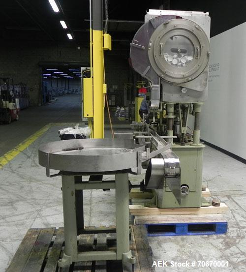 Used- Resina Model S-30 Automatic Single Head Chuck Capper