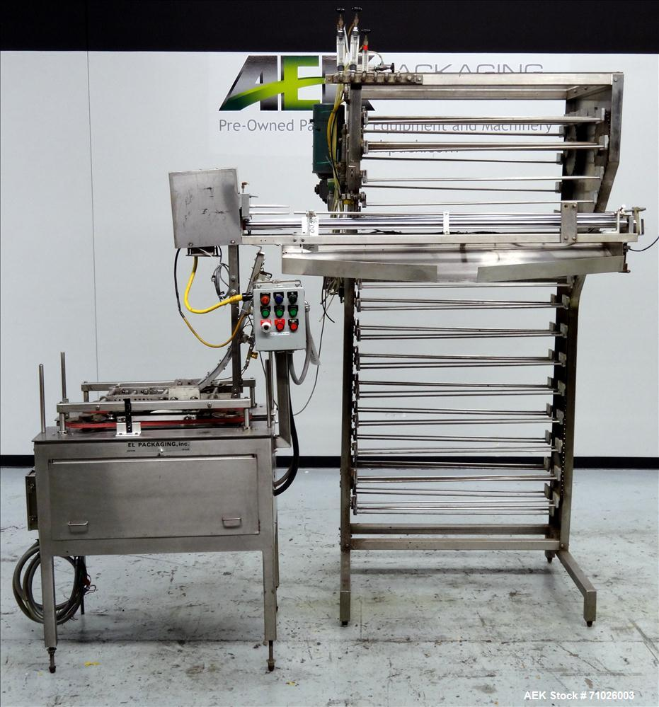 Used- Del Packaging SRC Overcapper with Extended Lid Magazine