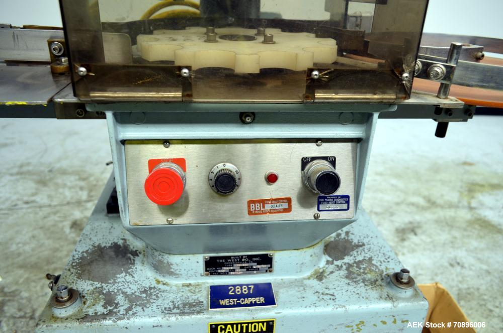 Used- West PW300 Rotary Flip Off Capper