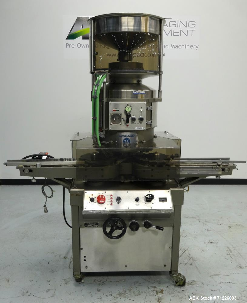Used- Westcapper Model RW500 Automatic Inline Rotary Crimp Capper
