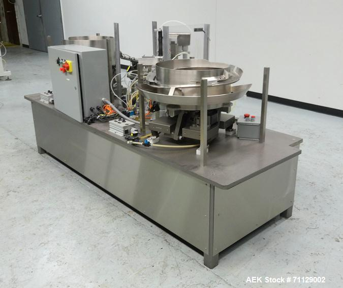 Used- M&S Automated Feeding Systems Automated Plugger - Capper